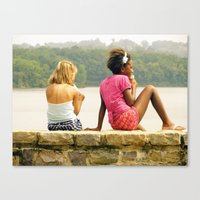 A Day At The Lake. Canvas Print