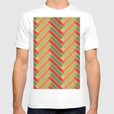 Holly Go Chevron Mens Fitted Tee SMALL White