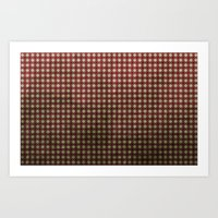 Royal Scarlet - Textured… Art Print
