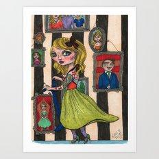 Pogo Stick Girl Art Print