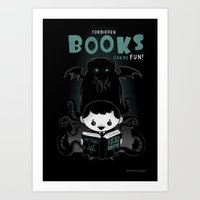 Forbidden books can be fun! Art Print