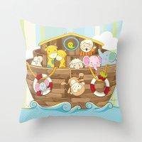Baby Noah Ark Throw Pillow