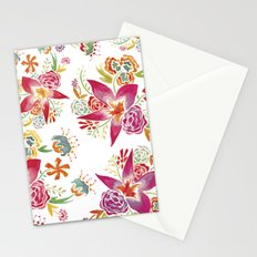 Tropical Flowers Watercolor Stationery Cards