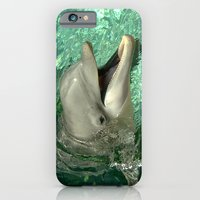 iPhone & iPod Case featuring Smiling Dolphin by Dolphin and Cow