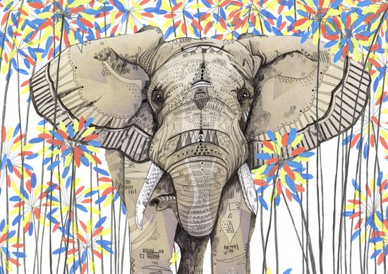 Elephant // Endangered Animals Art Print