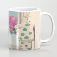 Nature and polka dots Mug