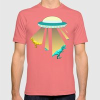 Aliens do exist - dino exctinction event Mens Fitted Tee Pomegranate SMALL