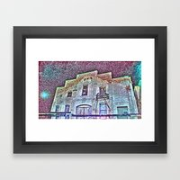 time (in the past) Framed Art Print