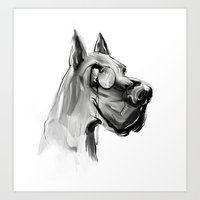 Dear Dog Art Print