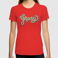 Groovy Womens Fitted Tee Red SMALL