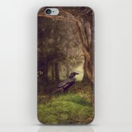 Raven In Forest iPhone & iPod Skin