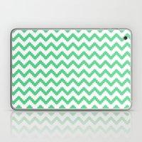 funky chevron mint pattern Laptop & iPad Skin