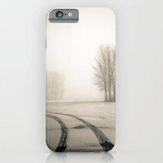 Tyre tracks in snow iPhone 6 Slim Case