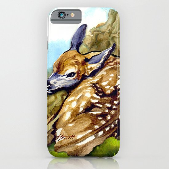 Fawn Parked in the Trees iPhone & iPod Case