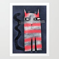 PEPPERMINT CAT Art Print