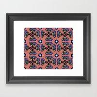 Butterflies And Dots Framed Art Print