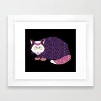 Abstract Cat [WHITE] Framed Art Print