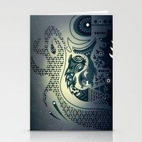 Midnight Swirls Stationery Cards