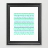 Blue&green Stripes Framed Art Print