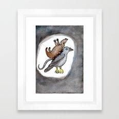 Pigeon Rat Framed Art Print