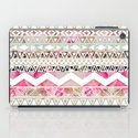 Aztec Spring Time! | Girly Pink White Floral Abstract Aztec Pattern iPad Case