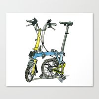 My brompton standing up Canvas Print