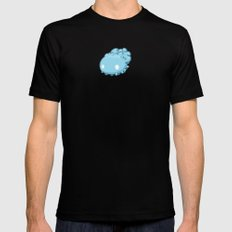 Marshmallow Blob Mens Fitted Tee SMALL Black