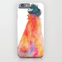 iPhone & iPod Case featuring The Girl with the starry mantle by KlarEm