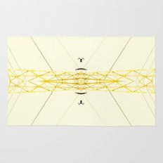 Yellow Structure Rug