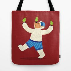 A Bear With Pears (colour variation) Tote Bag