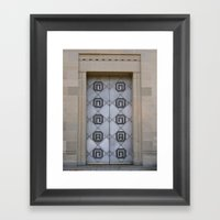 The Door To Nowhere Framed Art Print