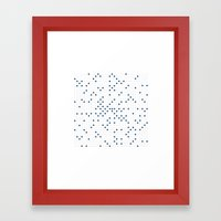 #548 Ulam spiral – Geometry Daily Framed Art Print