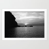 Dusk in Elba Art Print