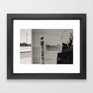 Framed Art Print featuring Futur Past by Sébastien BOUVIER