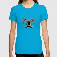 Koala-shirt Womens Fitted Tee Teal SMALL