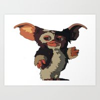 Gizmo, Gremlin color Art Print