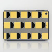 shapes in yellow, grey and black iPad Case