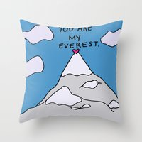 You Are My Everest Throw Pillow