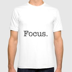 Focus White Mens Fitted Tee SMALL