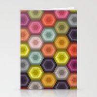 crochet honeycomb Stationery Cards