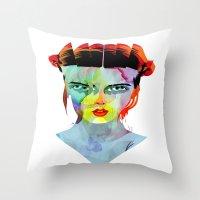 Girl_190712 Throw Pillow