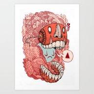 Crazy Mask Art Print