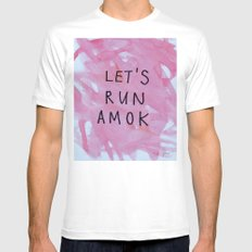 let's run amok Mens Fitted Tee White SMALL