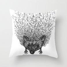 Thorny hedgehog Throw Pillow