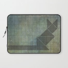 Laptop Sleeve - Sphynx cat in geometry - Mari Biro