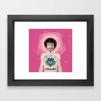 Bob Ross Is God Framed Art Print