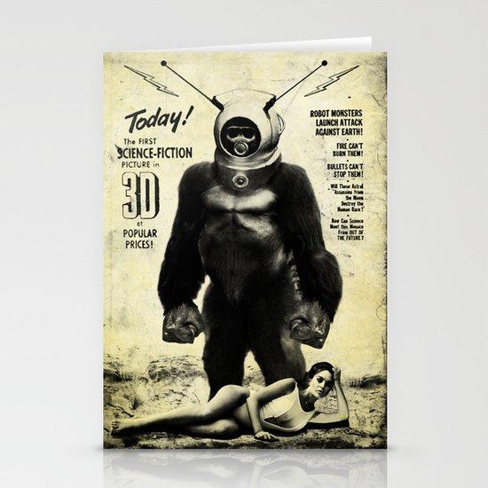 Robot Monster Stationery Card