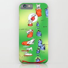 Pillow Sack Race between French Bulldog and Penguin iPhone 6 Slim Case