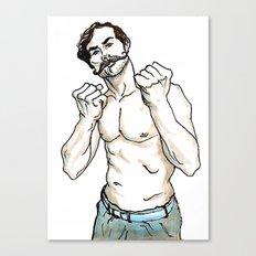 Mustachioed Pugilist Canvas Print