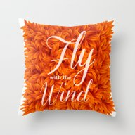 Fly With The Wind Throw Pillow